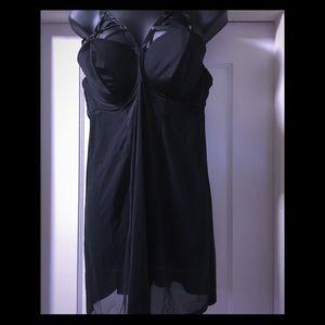 Barely worn cacique black chiffon teddy (18/20)